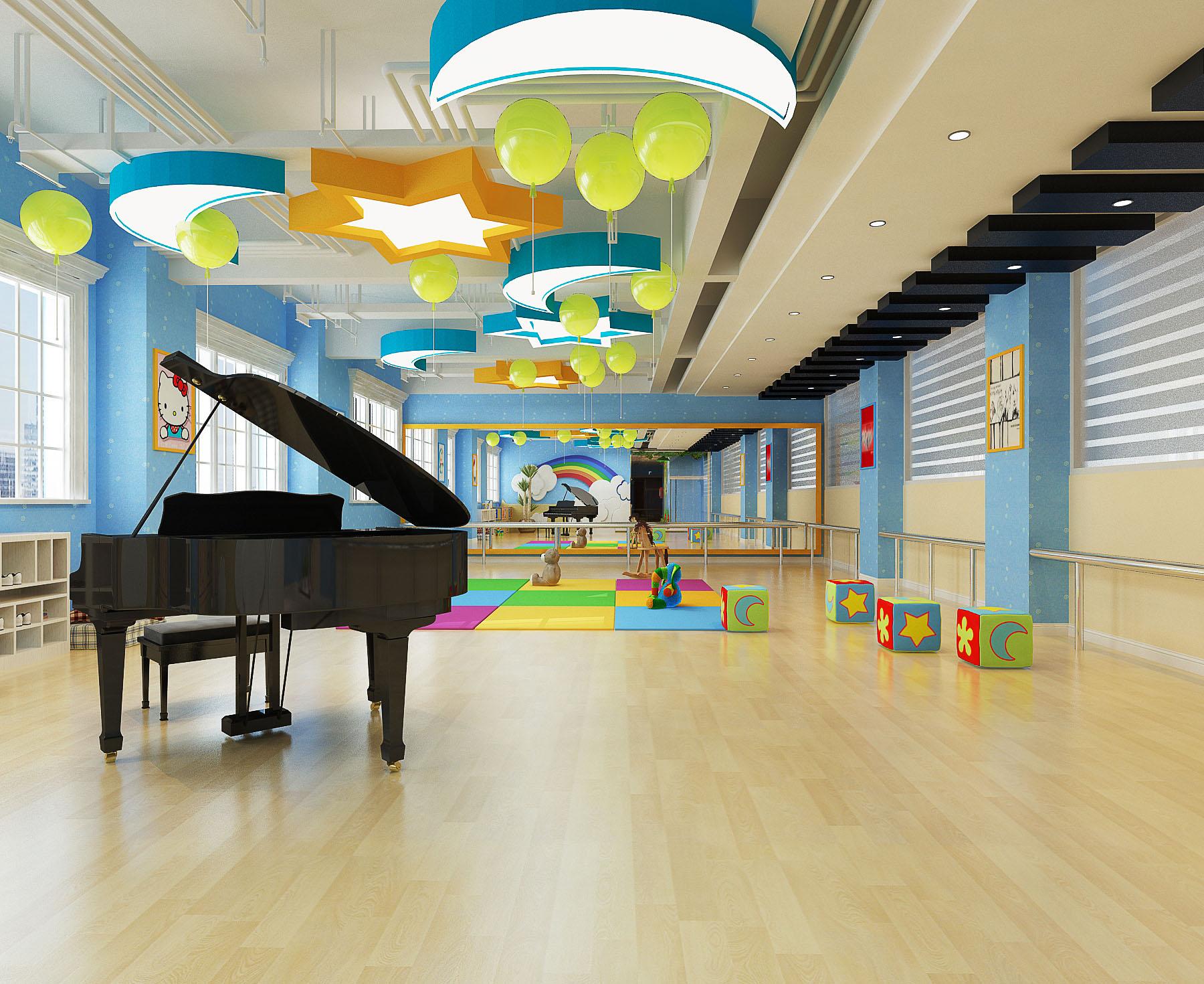 3,舞蹈培训班装修要求教室标准化专业化,一个专业的少儿培训教室对